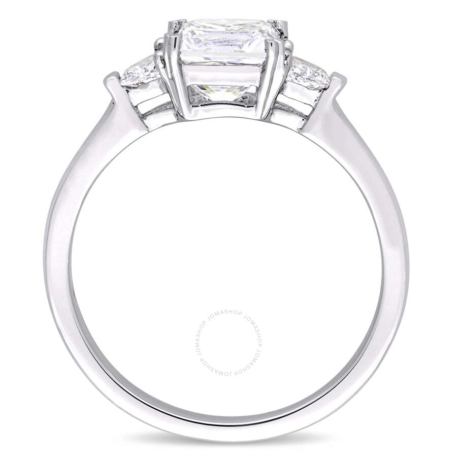 Diamond Wedding Band 1 3 Ct Tw Princess Cut 14k White Gold: Amour 1 3/4 CT TW Princess & Round Cut Diamond 14K White