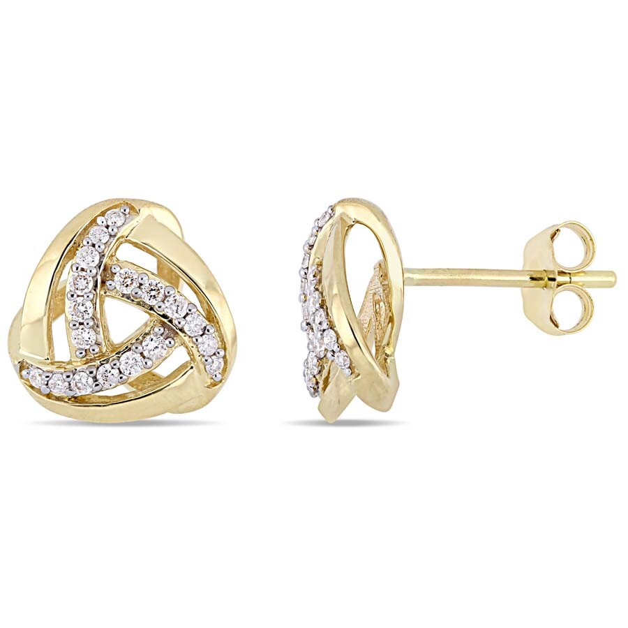 21d87bc4f Amour 1/5 CT TW Diamond Stud Earrings in 10k Yellow Gold JMS004987 ...