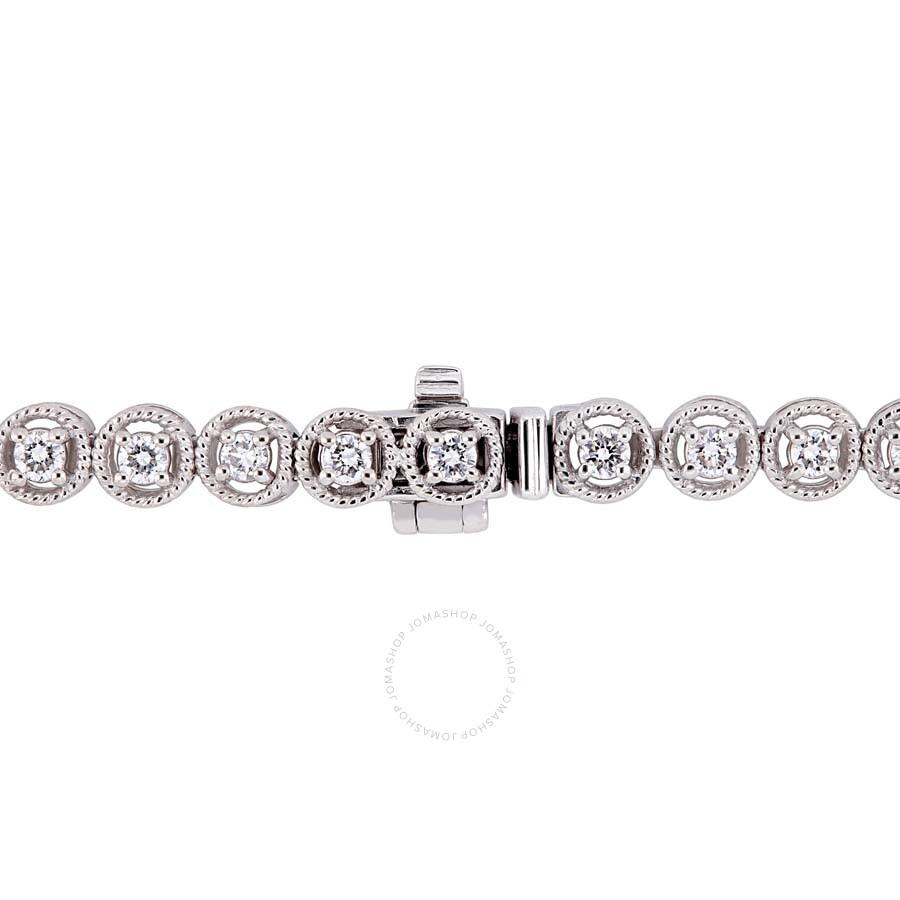 18e71d50922d2 Amour 1 CT TW Diamond Tennis Bracelet in 14k White Gold JMS005242