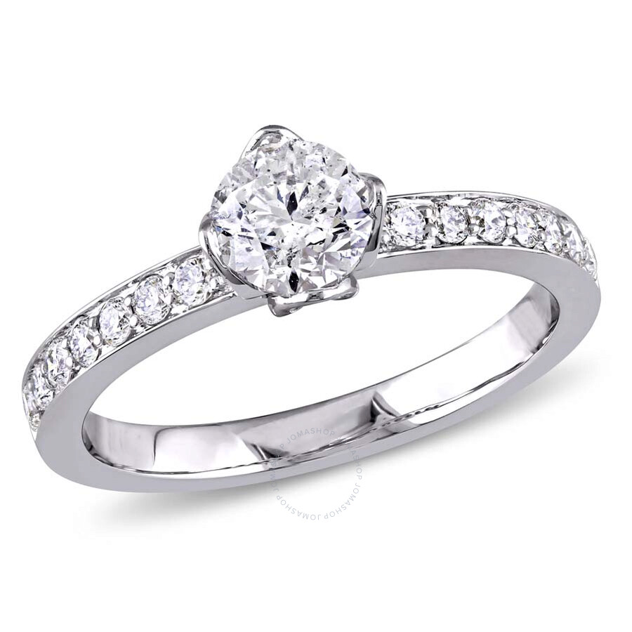 73f75c97a0e0b Amour 1 CT TW Marquise Gallery Diamond Raised 14K White Gold Engagement  Ring- Size 9