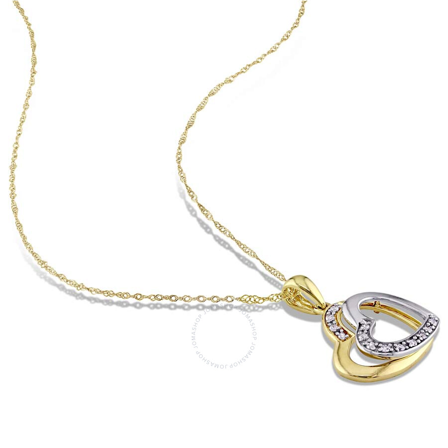 amour 10k two tone gold 0 07 ct shape