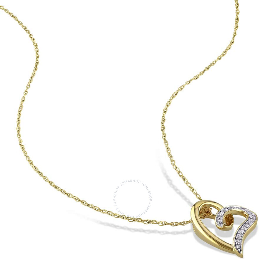 amour 10k yellow gold shape 0 6 ct pendant