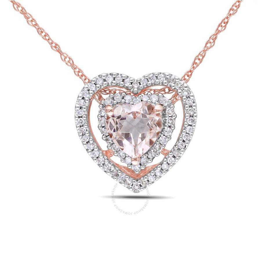 amour 18k pink gold morganite and shape