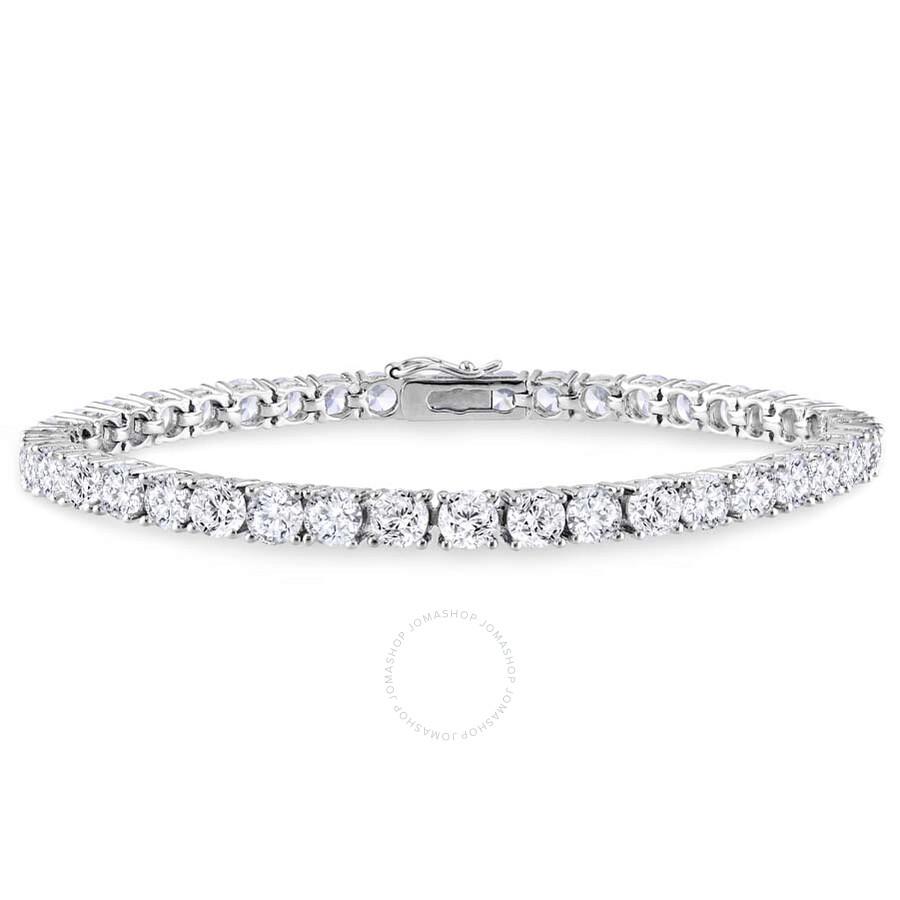amour cubic zirconia sterling silver tennis bracelet. Black Bedroom Furniture Sets. Home Design Ideas