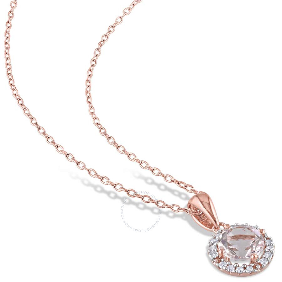 amour gold plated sterling silver morganite 1 10 ct