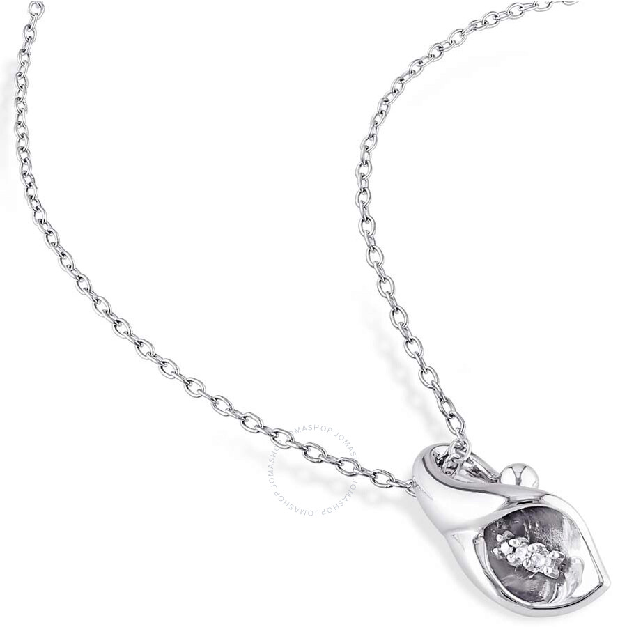 amour sterling silver calla pendant amour