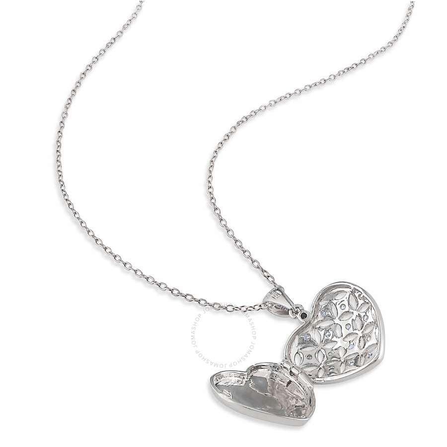 amour sterling silver shape 1 7 ct pendant