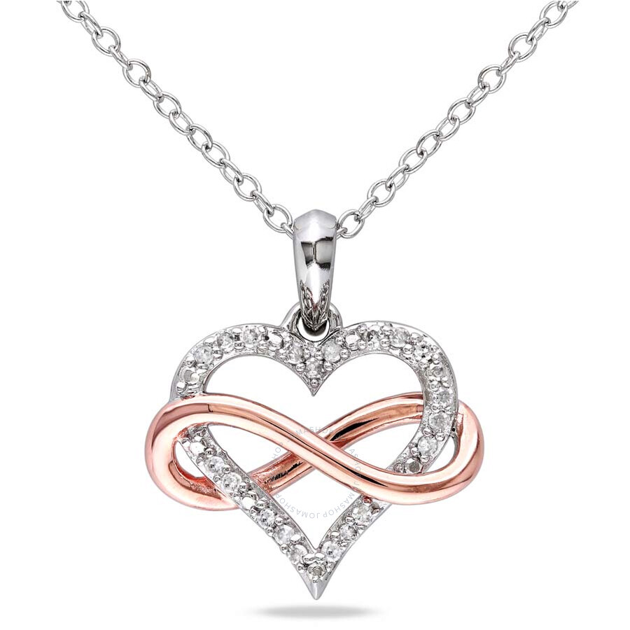 amour two tone shape infinity 1 10 ct