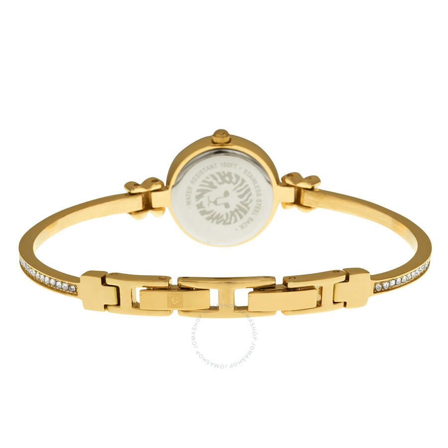 Anne klein mother of pearl dial gold tone bangle ladies watch 1688mprg anne klein watches for Anne klein gold watch