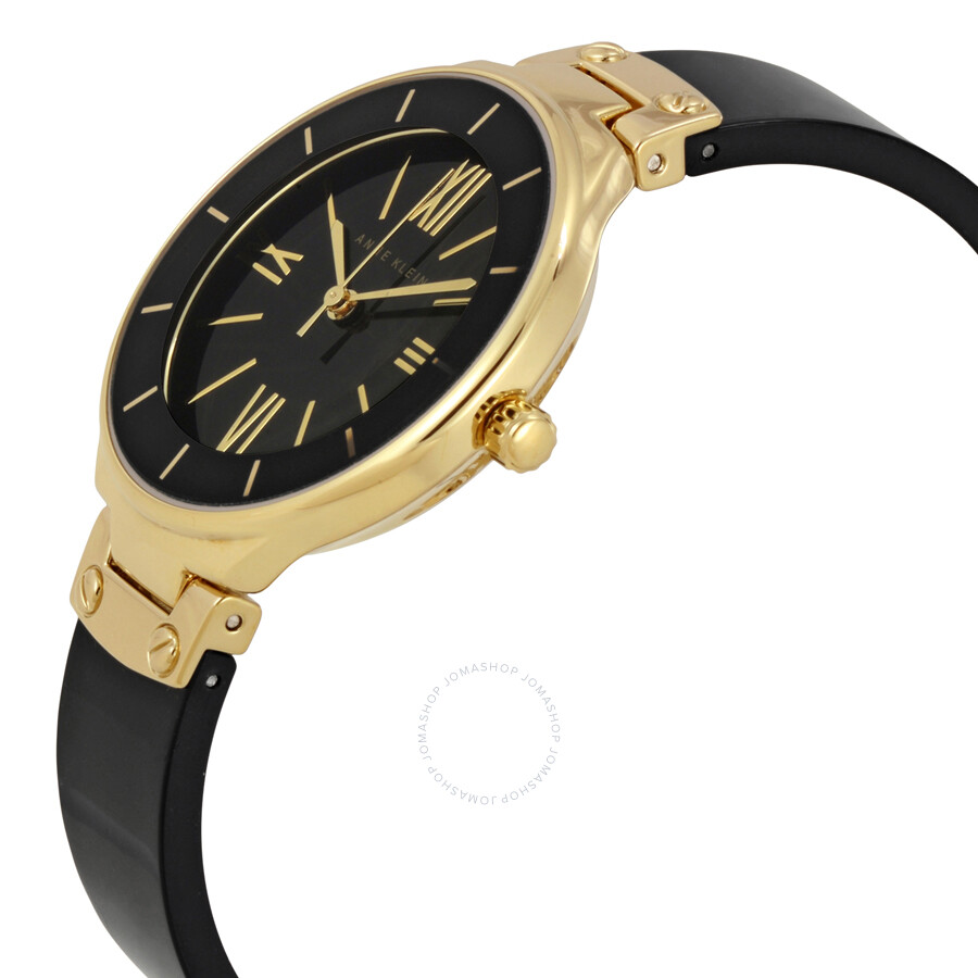anne klein black dial black resin ladies watch 1958bkgb anne klein watches jomashop On black resin ladies watch