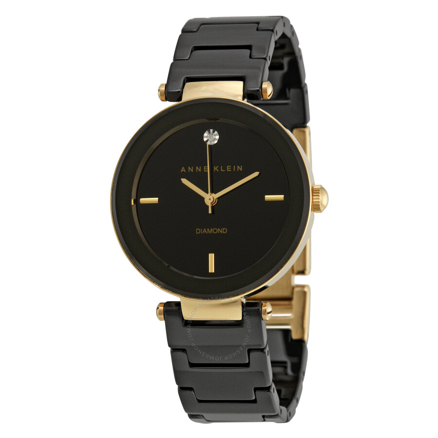 anne klein black dial ceramic ladies watch 1018bkbk anne klein watches jomashop