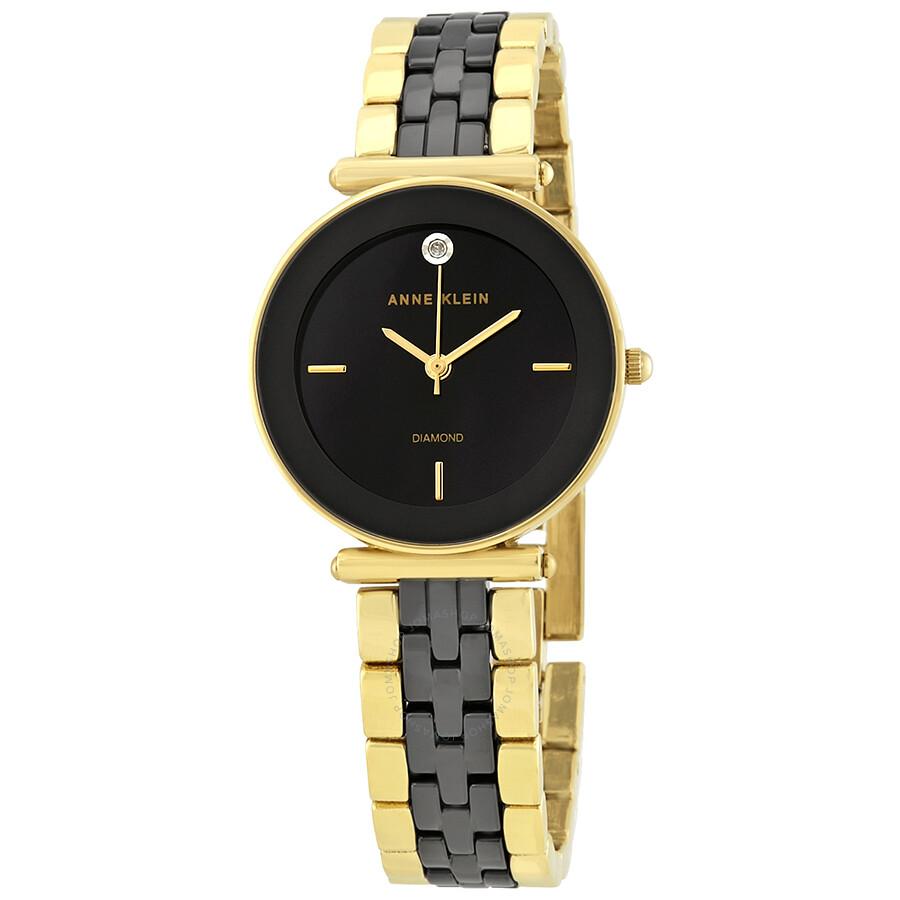 960031be166 Anne Klein Black Dial Ladies Watch 3158BKGB - Anne Klein - Watches ...