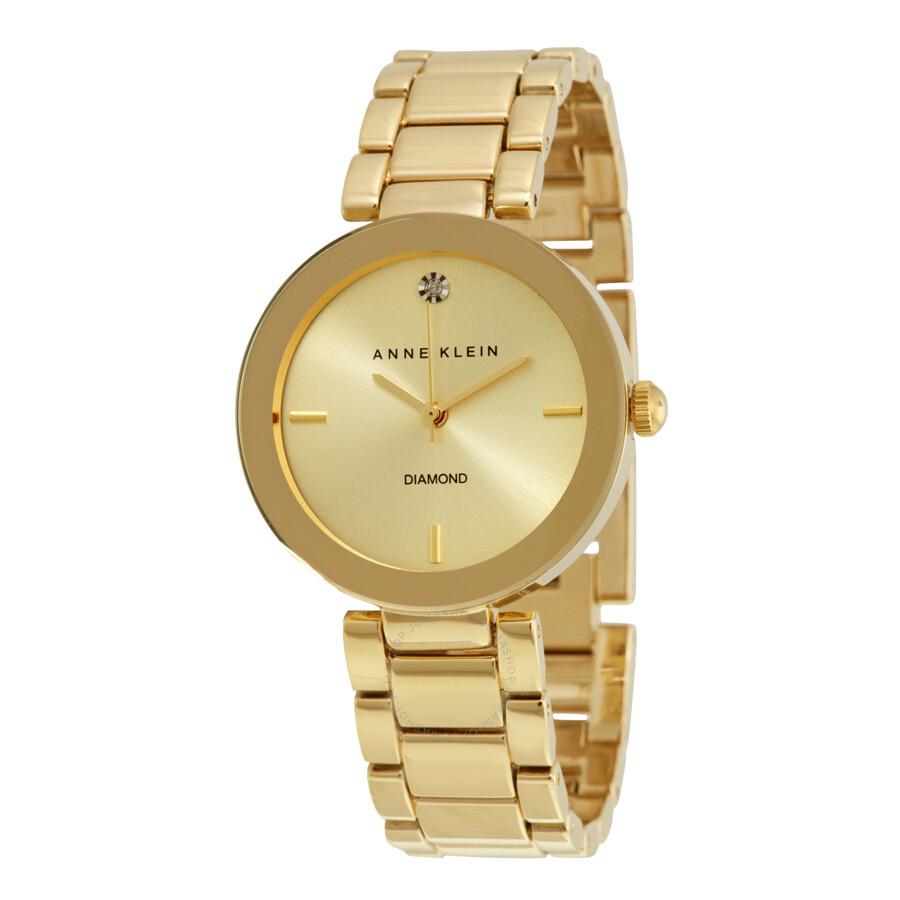 b1501a2746b Anne Klein Champagne Dial Ladies Watch 1362CHGB - Anne Klein ...