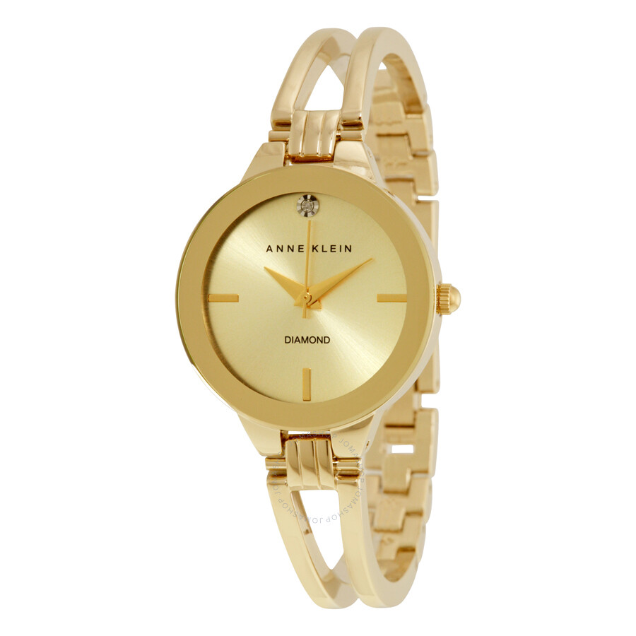 anne klein champagne dial ladies watch 1942chgb anne klein watches jomashop