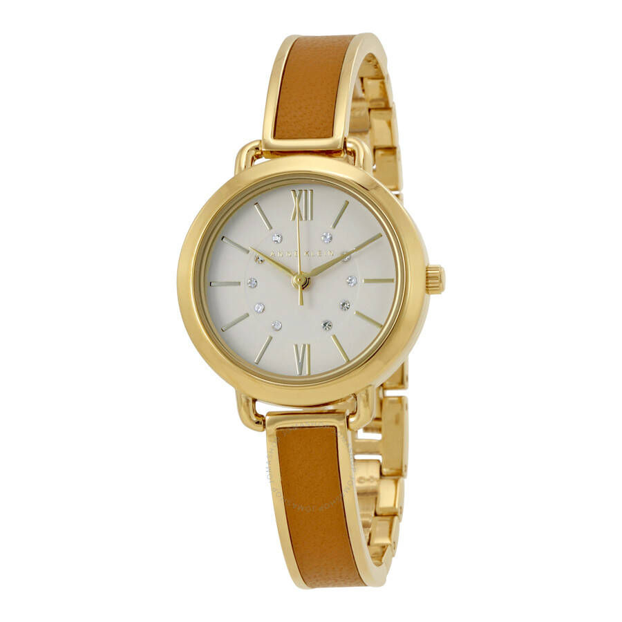 anne klein cream dial ladies watch 2436dtgb anne klein watches jomashop