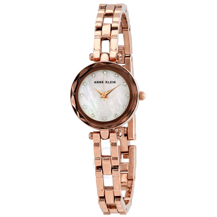 Anne klein crystal ladies watch 3120mprg anne klein watches jomashop for Crystal ladies watch