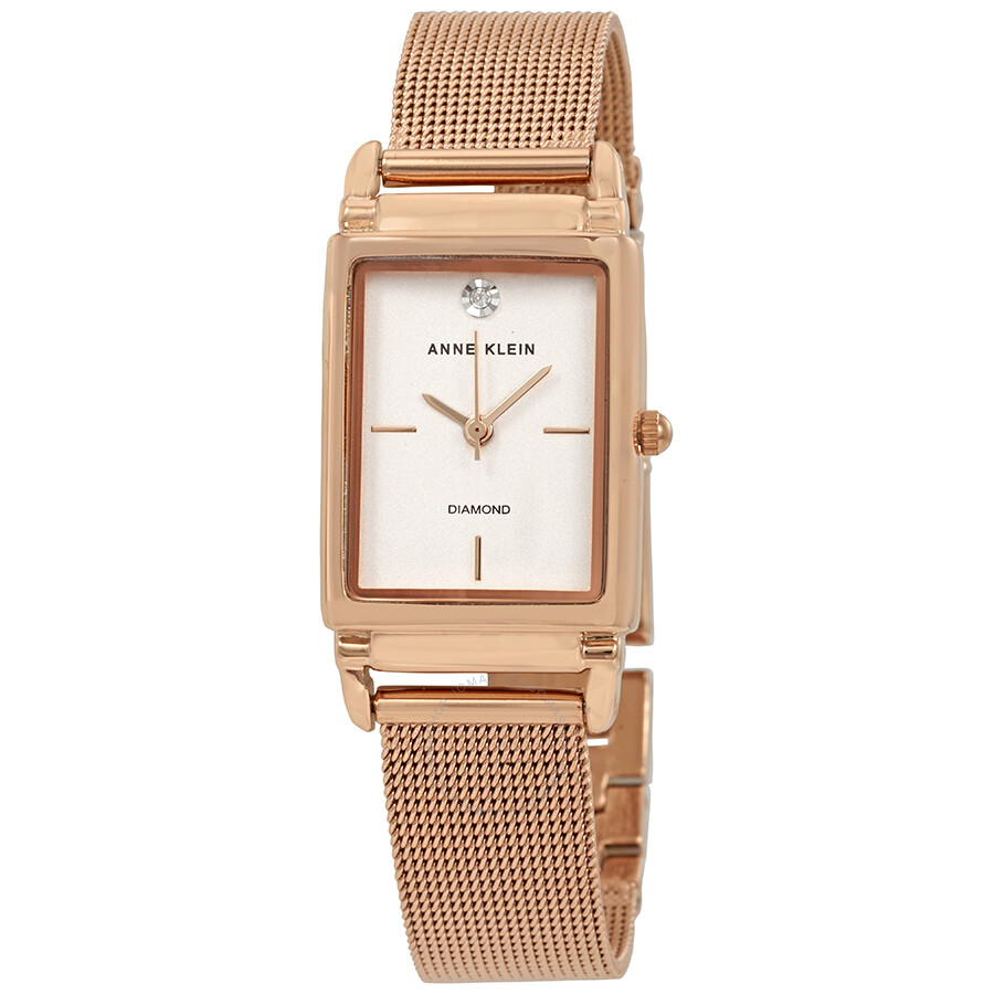 Anne klein diamond rose gold dial ladies watch 2970rgrg anne klein watches jomashop for Anne klein rose gold watch set