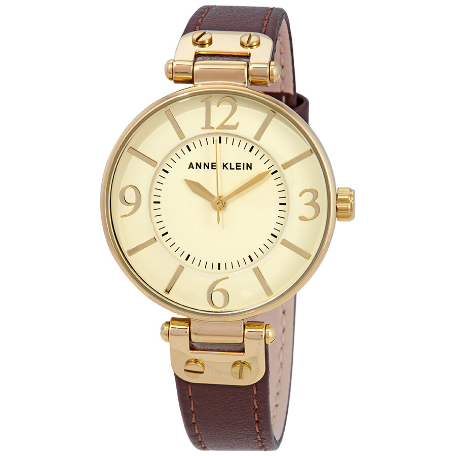 anne klein ivory dial ladies watch 10 9168ivbn anne klein watches jomashop
