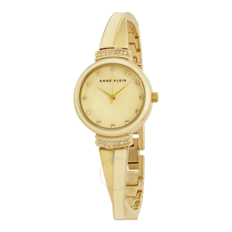 Anne klein ivory mother of pearl dial ladies watch 2216ivgb anne klein watches jomashop for Mother of pearl dial watch