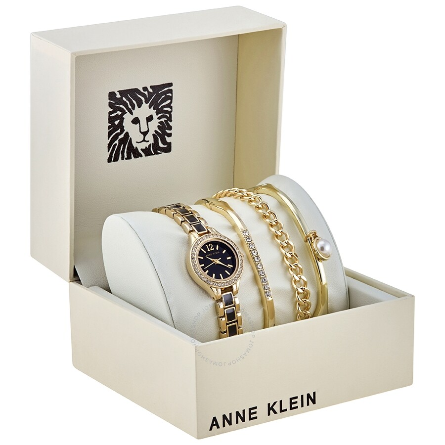 Anne Klein Black Dial Las Watch And