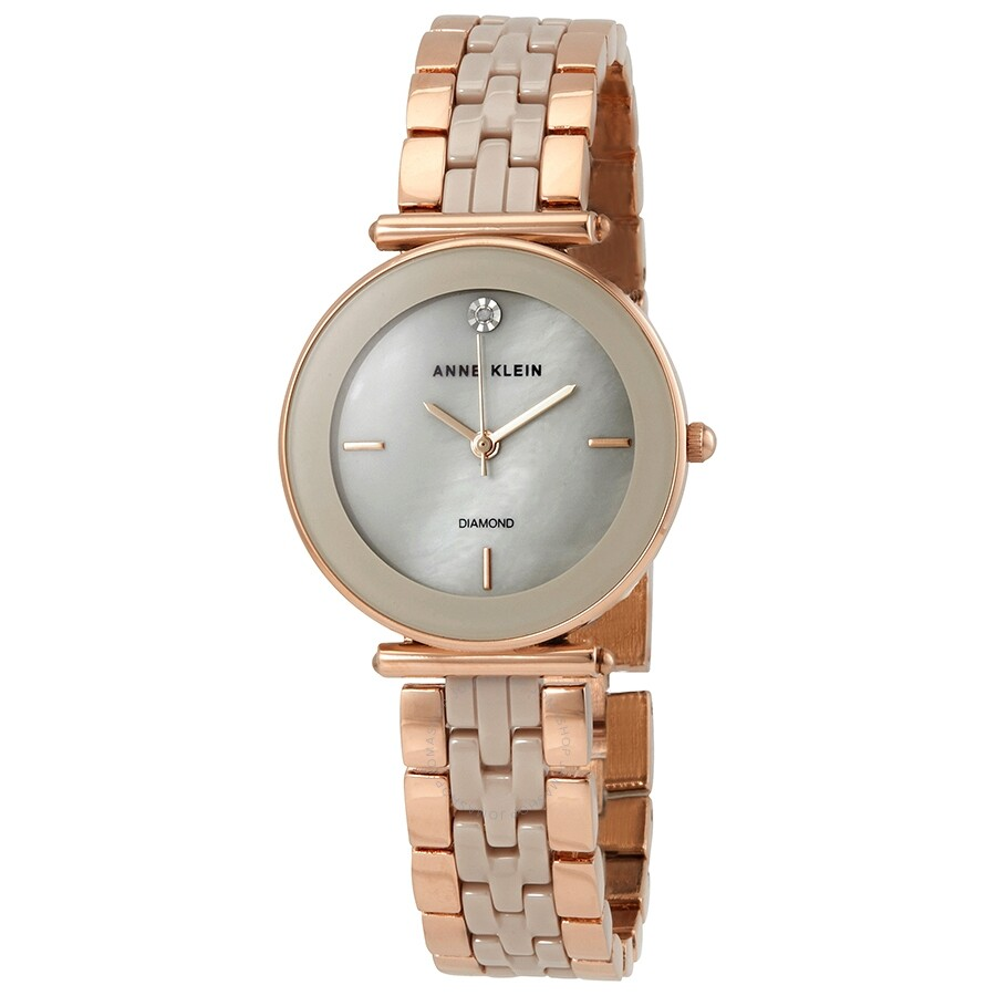 Anne klein ladies rose gold tone watch 3158tprg anne klein watches jomashop for Anne klein rose gold watch set