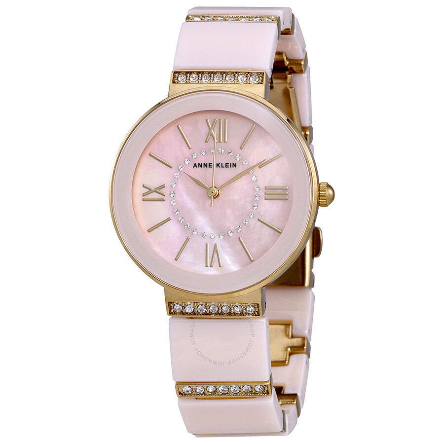 anne klein light pink mother of pearl dial ladies watch 2832lpgb anne klein watches jomashop