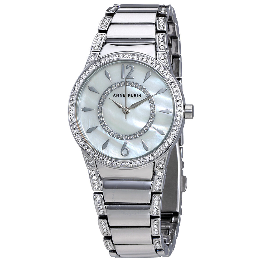 Anne klein mother of pearl dial ladies watch 2831mpsv anne klein watches jomashop for Mother of pearl dial watch