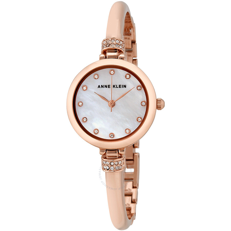 Anne klein mother of pearl watch and bracelet set 2840rjas anne klein watches jomashop for Pearl watches