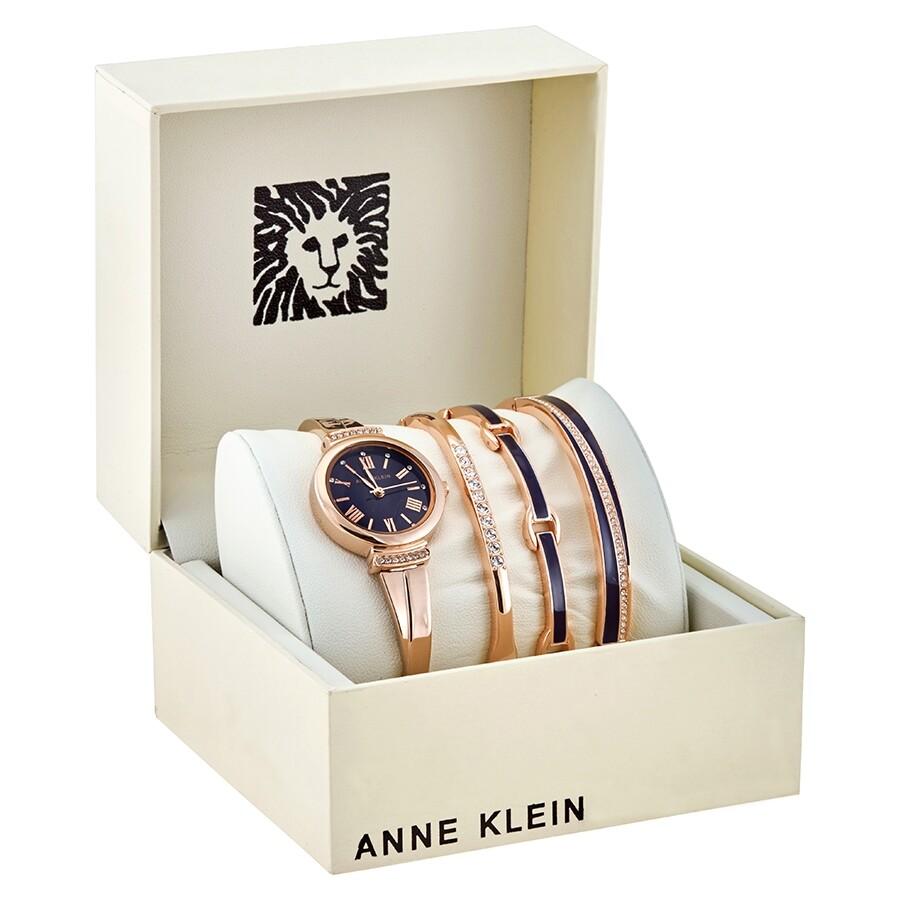 Anne Klein Navy Dial Ladies Watch Set AK-3414NRST AK-3414NRST - Watches, Anne Klein - Jomashop