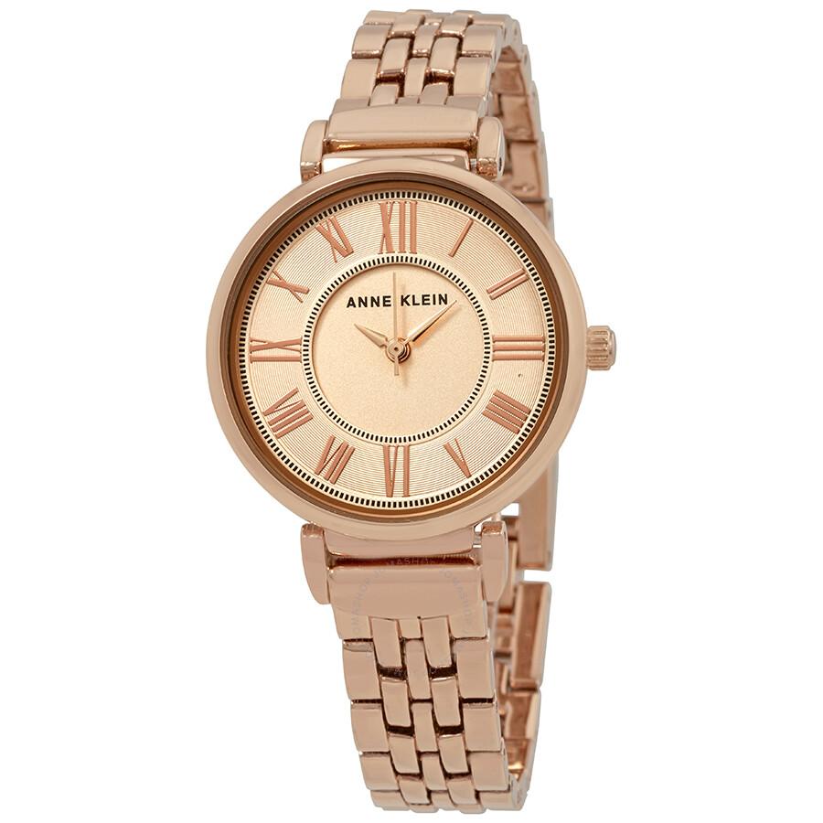 Anne klein roman numeral gold dial ladies watch 2158rgrg anne klein watches jomashop for Gold dial ladies watch