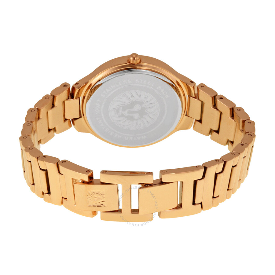 Anne klein rose dial rose gold tone ladies watch 1450rgrg anne klein watches jomashop for Anne klein rose gold watch set
