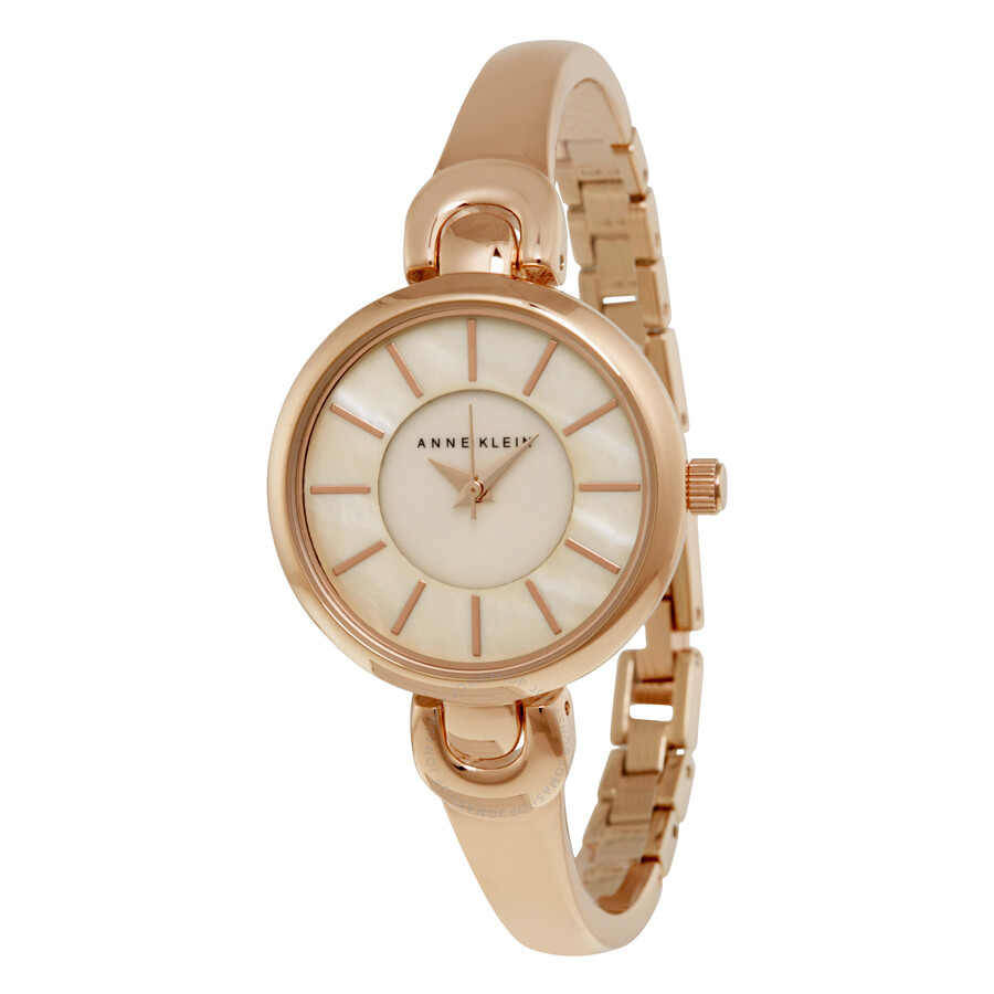Anne klein rose gold dial rose gold bangle ladies watch 2124rmrg anne klein watches jomashop for Anne klein rose gold watch set