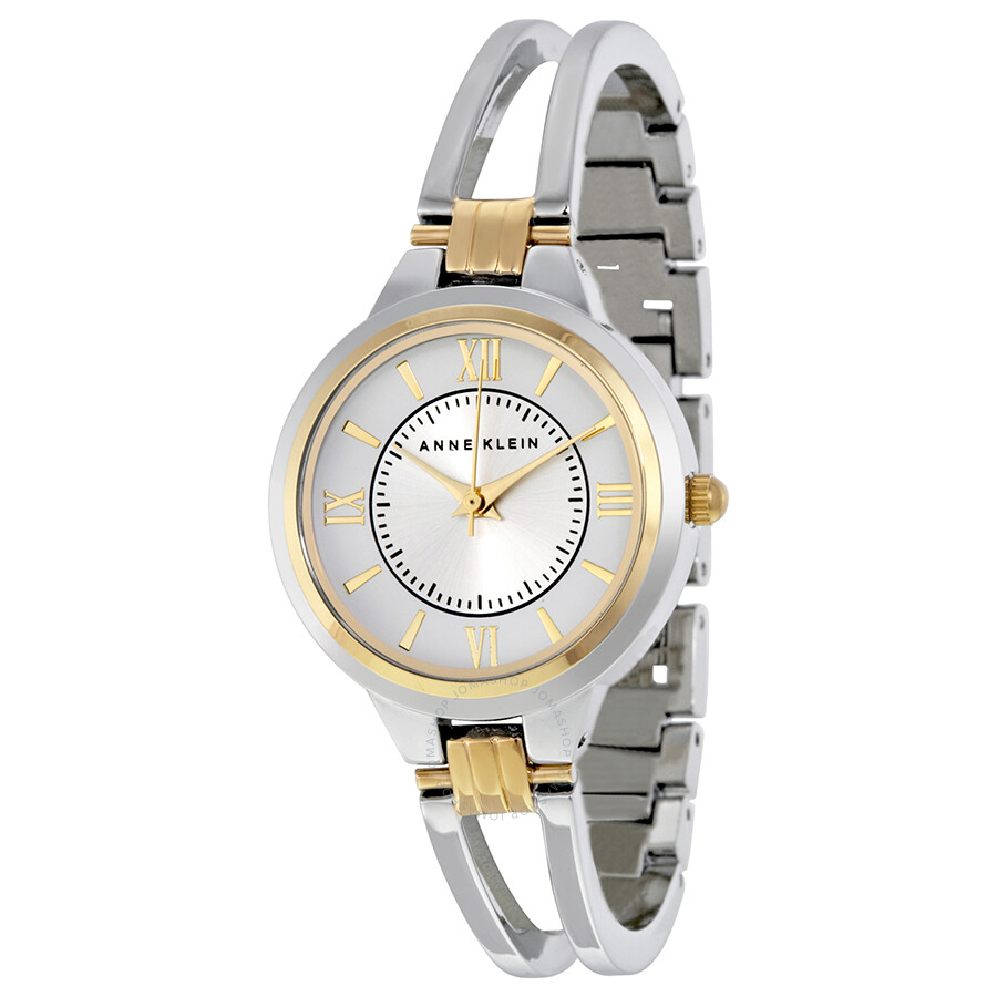6e910d9ac8850 Anne Klein Silver Dial Stainless Steel Bangle Ladies Watch 1441SVTT