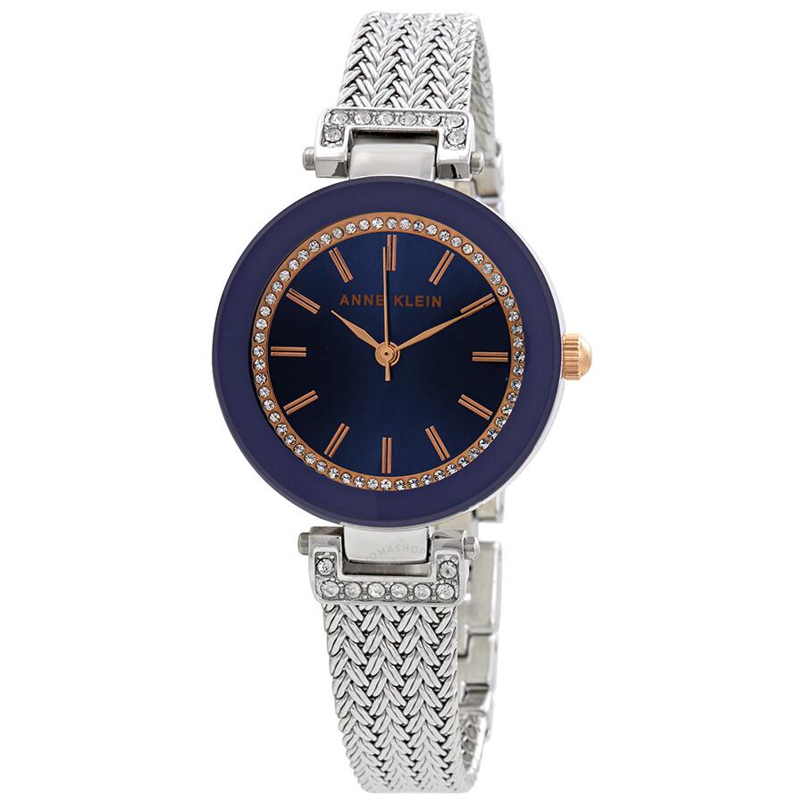 Anne klein swarovski crystals blue dial ladies watch 1907nvrt anne klein watches jomashop for Swarovski crystals watch