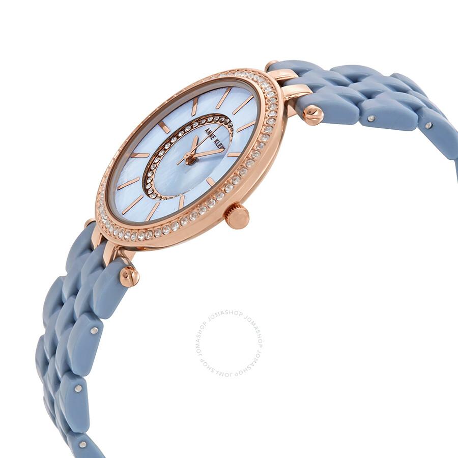 Anne klein swarovski crystals blue dial ladies watch 2620blrg anne klein watches jomashop for Anne klein swarovski crystals