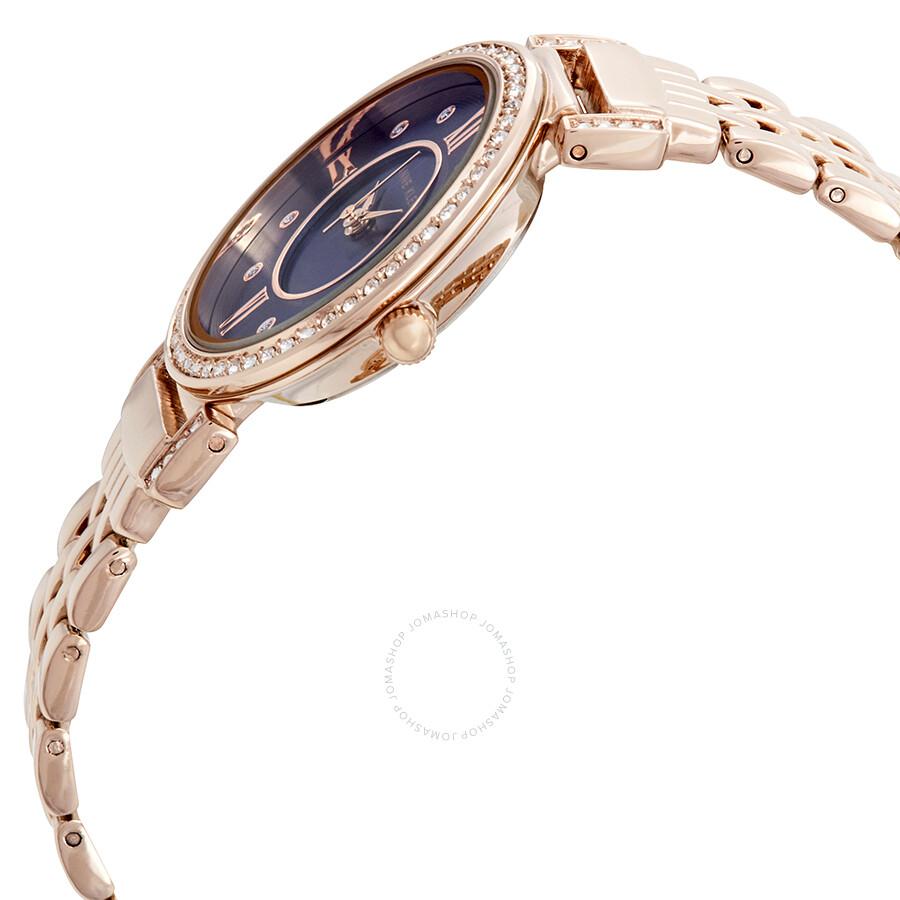 Anne klein swarovski crystals blue dial ladies watch 2928nvrg anne klein watches jomashop for Anne klein swarovski crystals