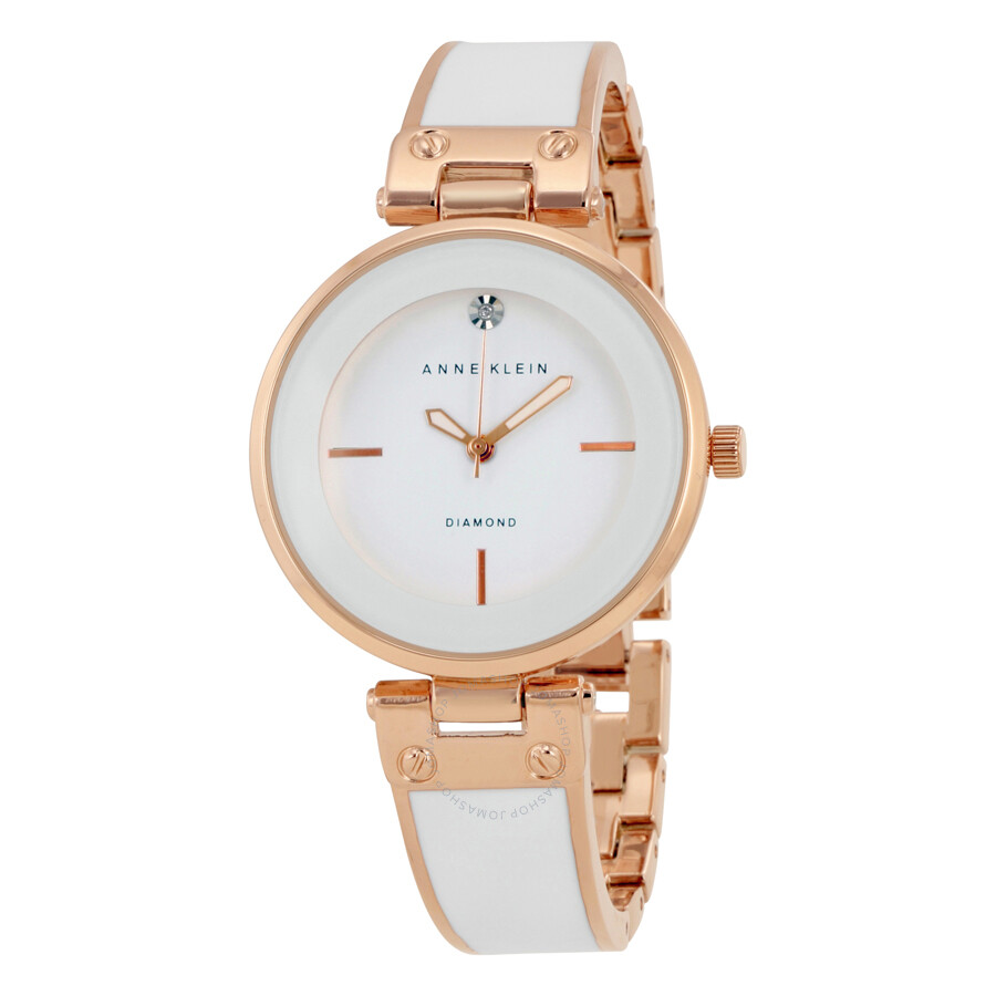 anne klein white dial ladies watch 1414wtrg anne klein watches jomashop
