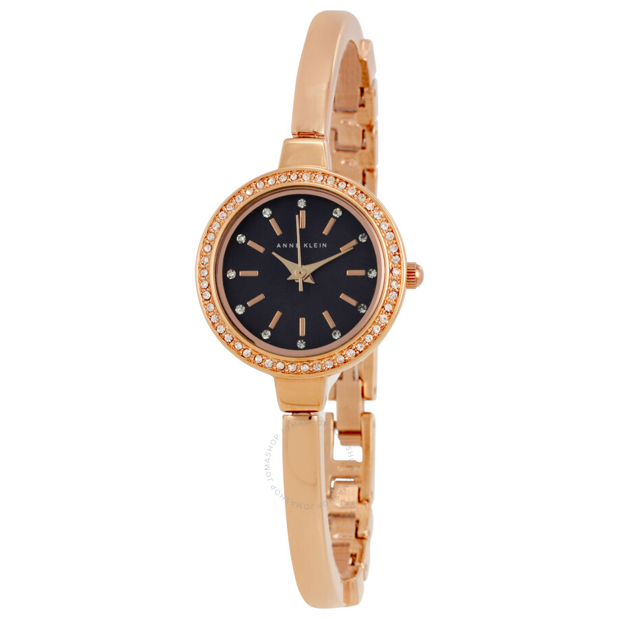 Anne kleinblack mother of pearl dial rose gold bangle ladies watch 2240rgst anne klein for Anne klein gold watch
