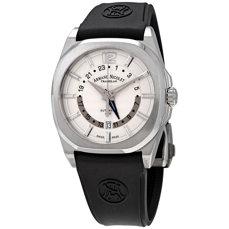 5eae52c8eb3 Armand Nicolet J09-2 Silver Dial Automatic Men s GMT Watch  A653AAA-AG-GG4710N ...