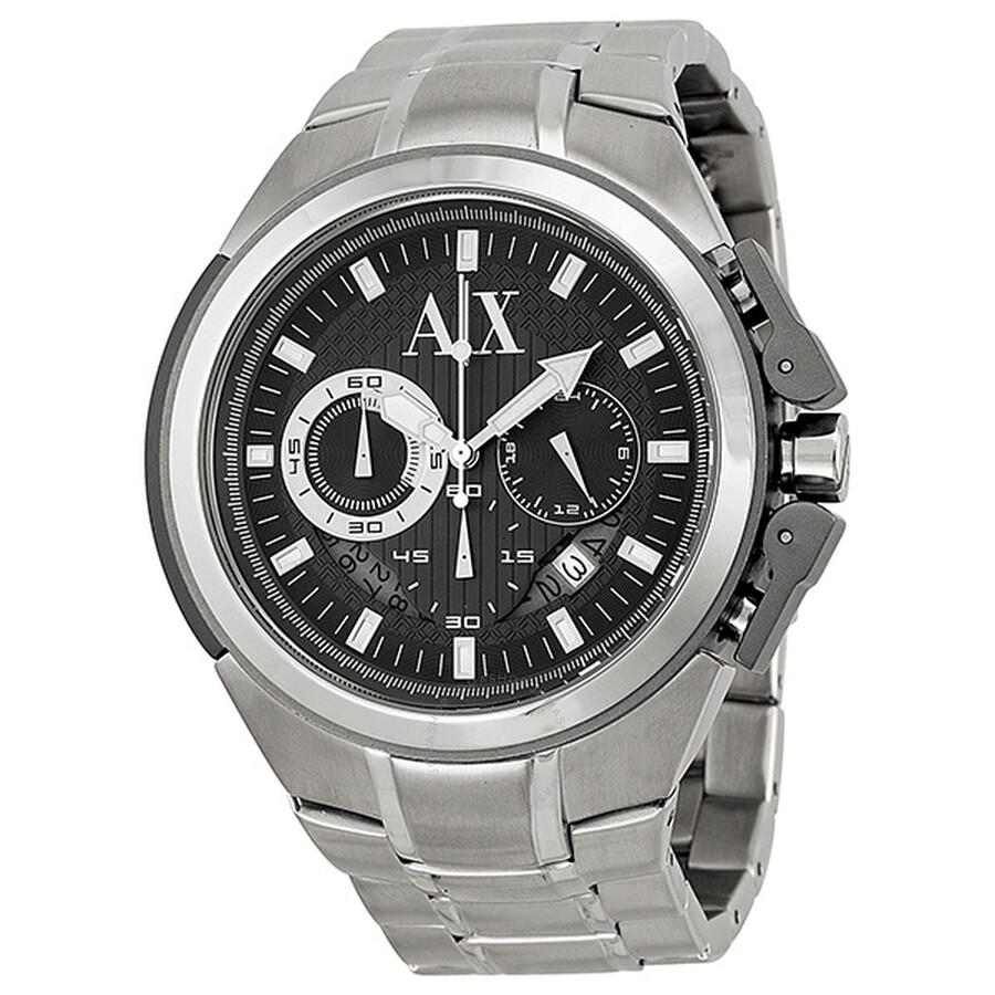 Armani AX Exchange Miami Chronograph Black Dial Stainless Steel Men s Watch  AX1039 ... 6ba6c14506