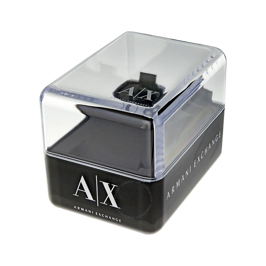 Leather Gmbh Contact Us Email Sales Mail: Armani AX Exchange Whitman Black Dial Black Leather Men's
