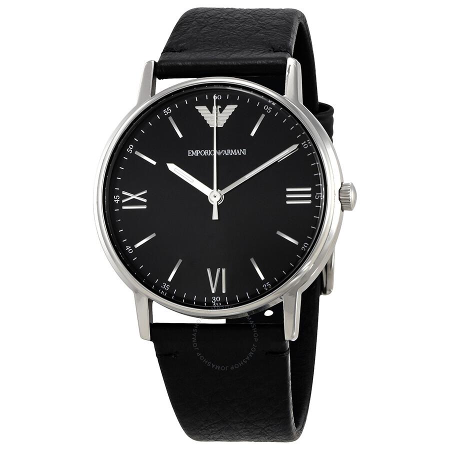 5338034ac9d07 Armani Black Dial Men's Leather Watch AR11013 - Emporio Armani ...