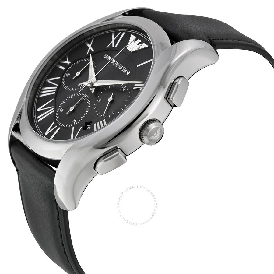 emporio armani chronograph black dial men 39 s watch ar1700. Black Bedroom Furniture Sets. Home Design Ideas