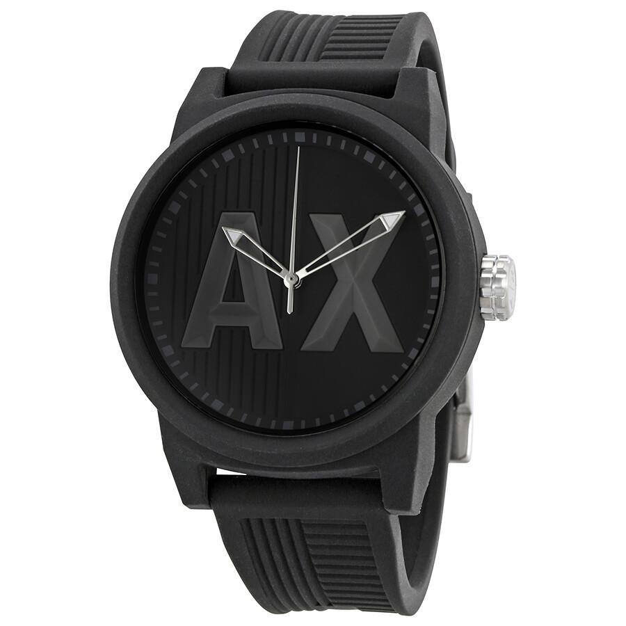 4f7f761ac89 Armani Exchange ATLC Black Silicone Strap Men s Watch AX1451 ...