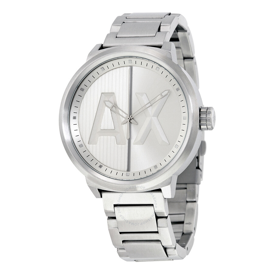 Armani exchange atlc silver dial men 39 s watch ax1364 armani exchange watches jomashop for Armani exchange watches