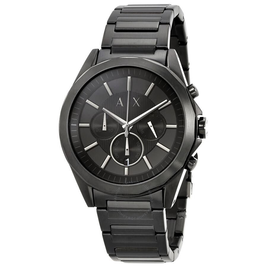 ccc46273c83d Armani Exchange Black Chronograph Dial Black Men s Watch AX2601 ...