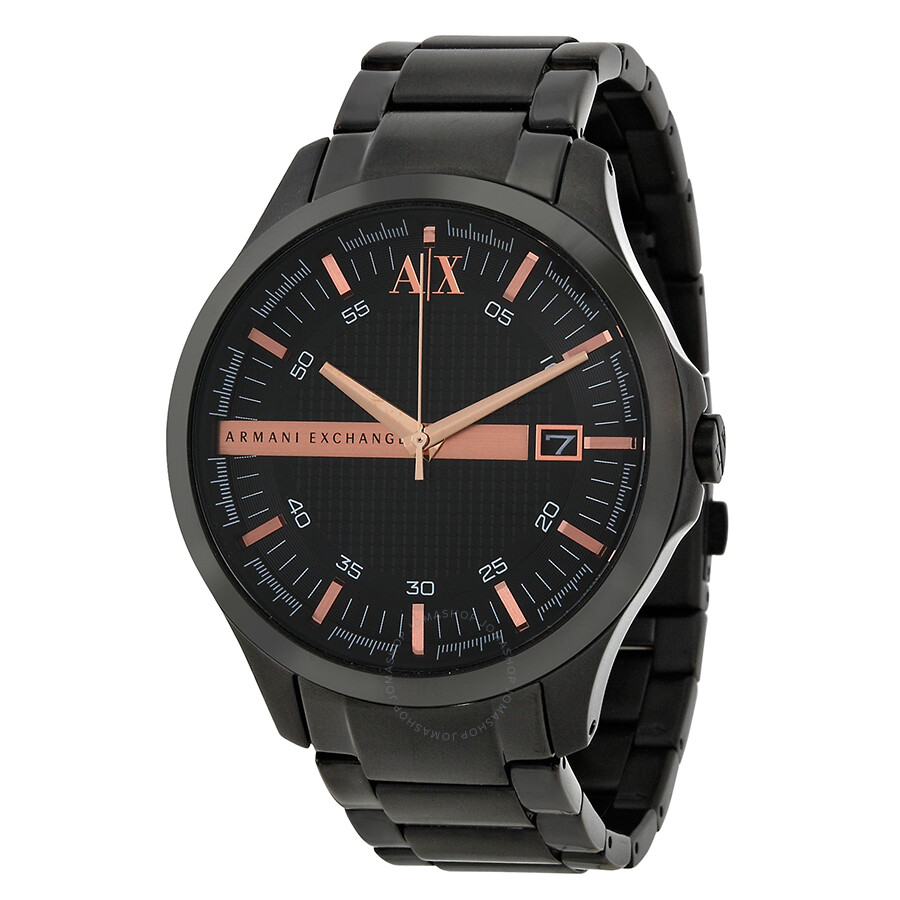 Armani exchange black dial black ion plated men 39 s watch ax2150 armani exchange watches for Armani exchange watches