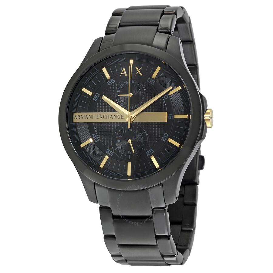 Armani Exchange Black Dial Black PVD Men s Watch AX2121 - Armani ... ecc9d7b6ff