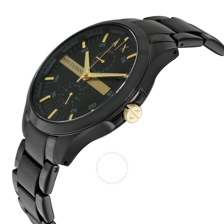 armani exchange black black pvd s ax2121
