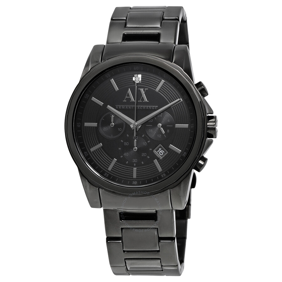 e90b3bfe465 Armani Exchange Black Dial Black PVD Stainless Steel Men s Watch AX2503 ...